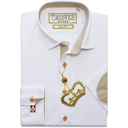 Рубашка Tsarevich - белый от Tsarevich