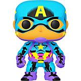 Фигурка Funko POP! Bobble: Marvel: Black Light: Капитан Америка, 48845