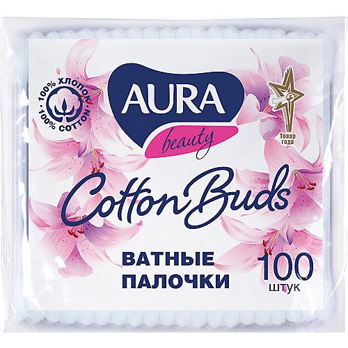 Ватные палочки AURA, 100 шт
