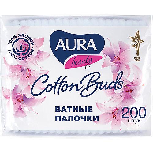 Ватные палочки AURA, 200 шт