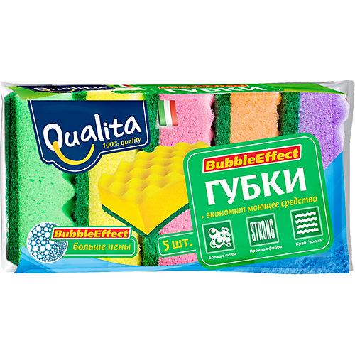 Кухонная губка QUALITA Bubble Effect, 5 шт