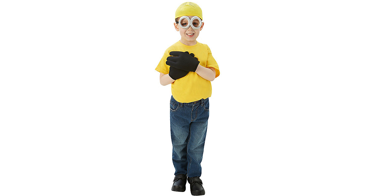 Minion-Set 3-teilig: Mütze, Handschuhe, Brille Gr. one size