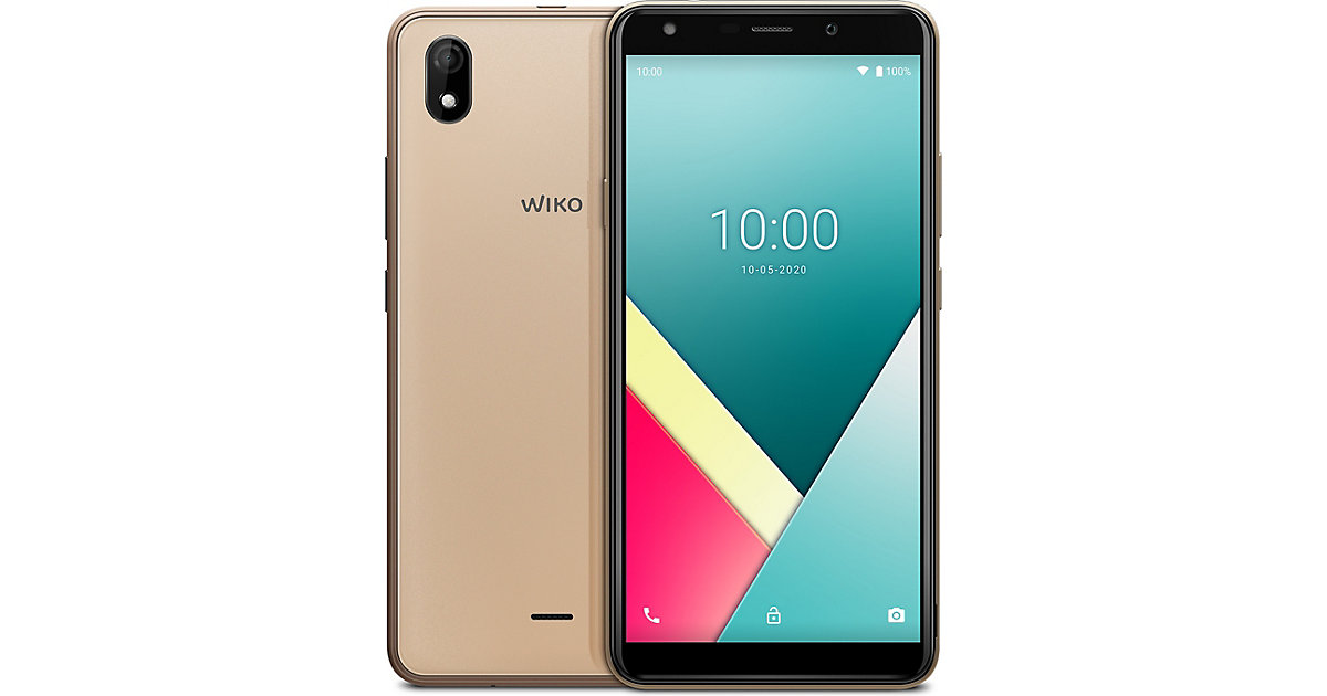 WIKO Y61 Smartphone, inkl. Soft Case & Schutzglas gold