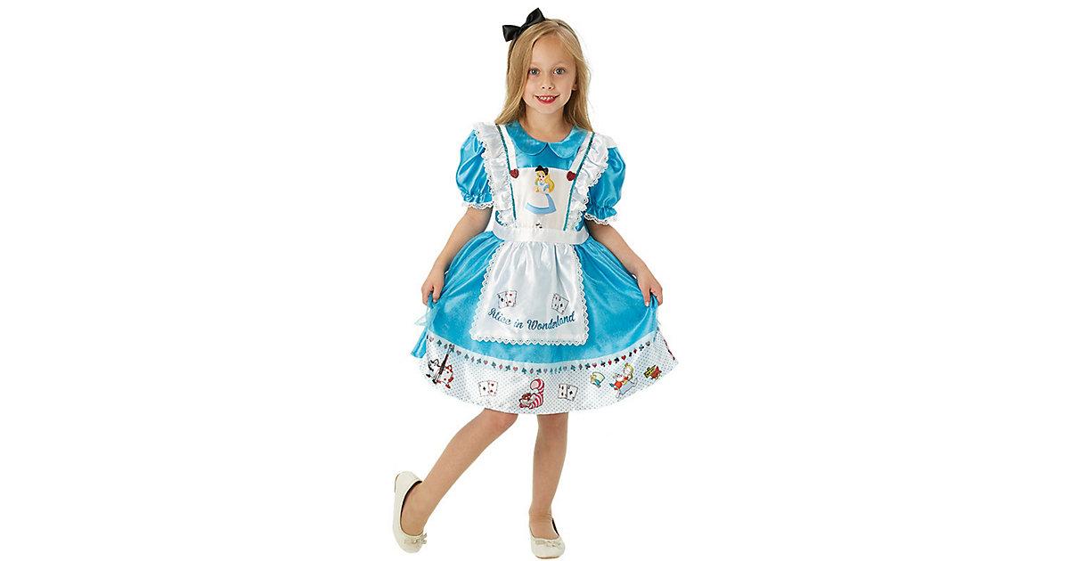 Kostüm Alice in Wonderland Deluxe türkis/weiß Gr. 122/134 Mädchen Kinder