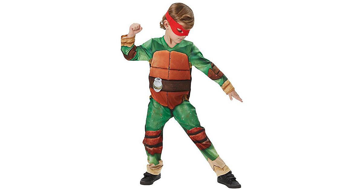 Kostüm Teenage Mutant Ninja Turtles Deluxe braun-kombi Gr. 122/134 Jungen Kinder