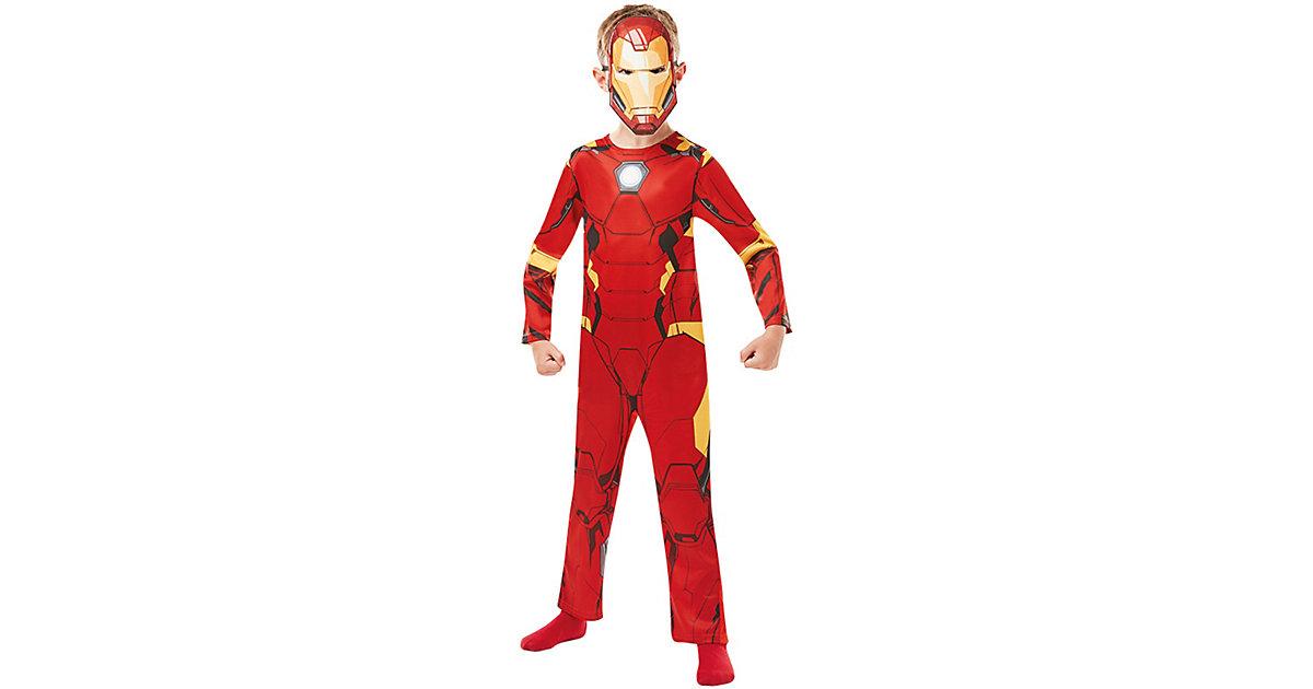 Kostüm Iron Man Avengers Assemble Classic rot Gr. 122/134 Jungen Kinder