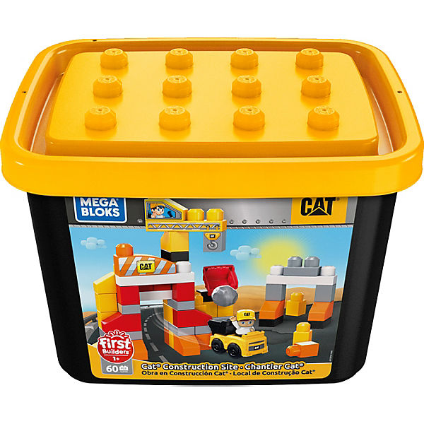 MEGA BLOKS GJH44-9633 CAT Baustelle Contruction