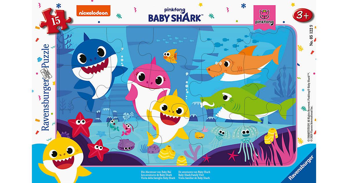 Rahmenpuzzle Die Abenteuer von Baby Hai, 15 Teile