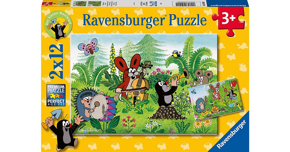 Puzzle Gartenparty mit Freunden, 2 x12 Teile