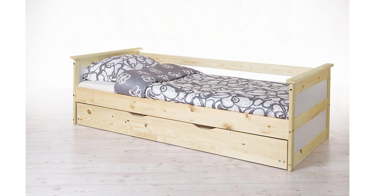 Sofabett mit Auszug Theodor Kiefer Natur natur Gr. 100 x 200