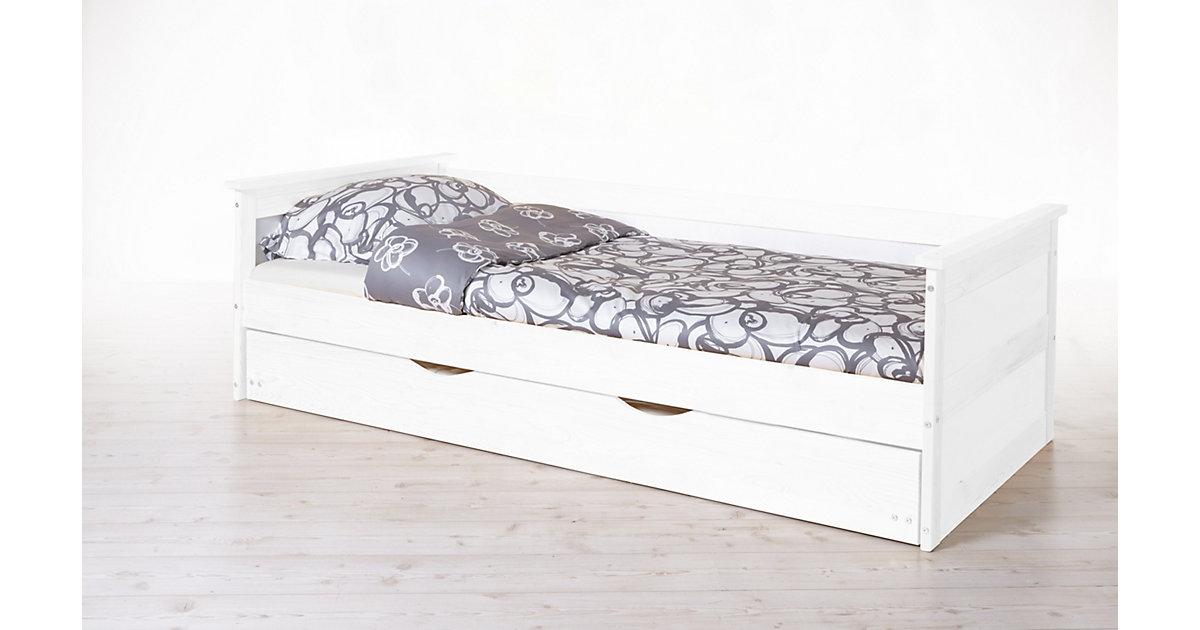 Sofabett mit Auszug Theodor Kiefer Weiß weiß Gr. 100 x 200