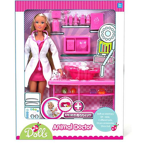 """Игровой набор с куклой Simba """"Steffi Love"""" Штеффи-ветеринар с аксессуарами, 29 см от Simba"""