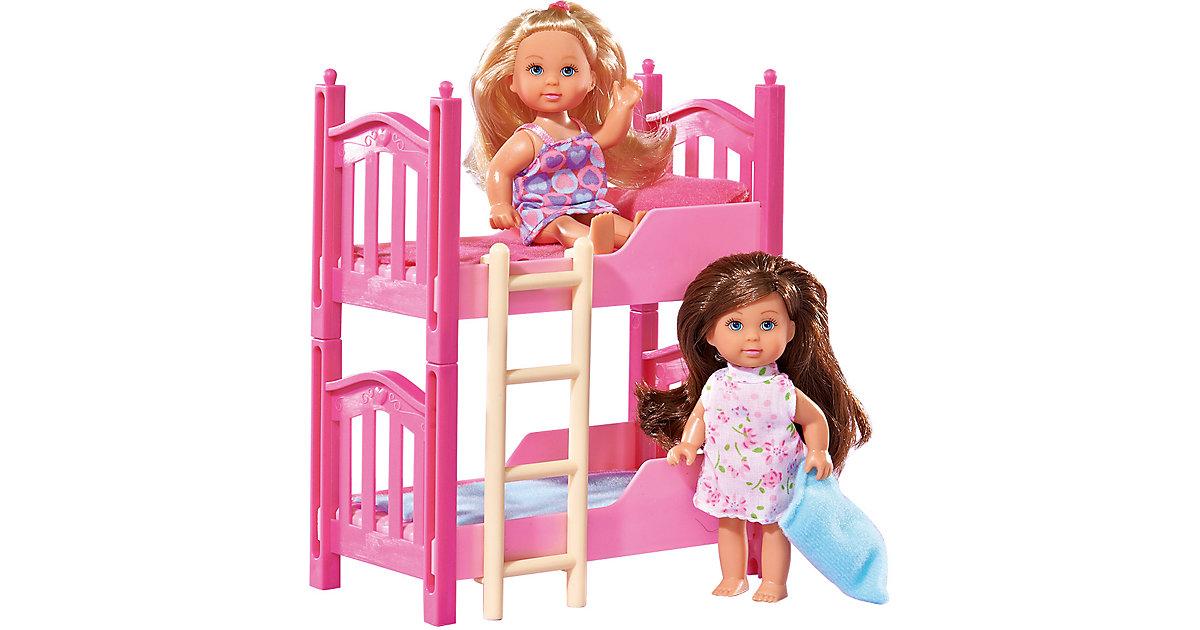 Evi LOVE Doppelstockbett, 2 Puppen