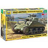 Сборная модель Звезда Американский средний танк М4А2 Шерман