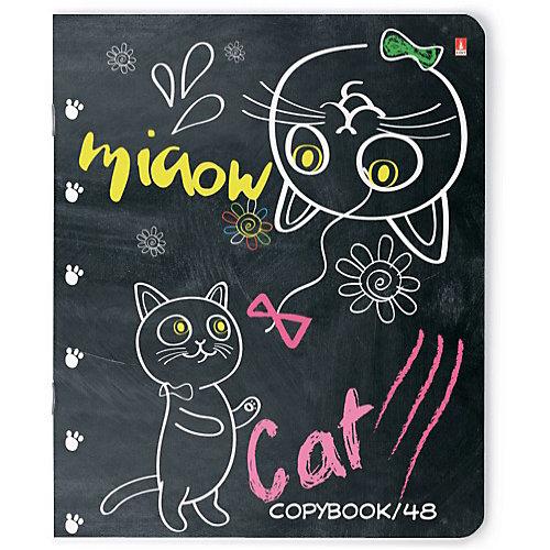 """Комплект тетрадей Альт """"Ученый кот"""", клетка, 48 листов от Альт"""