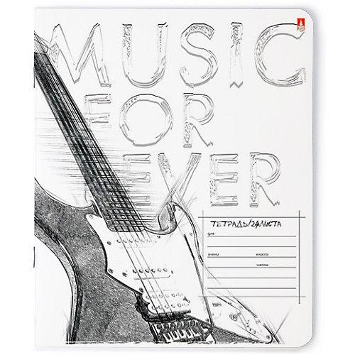 Комплект тетрадей Альт Musik. Black&white, клетка, 24 листа от Альт