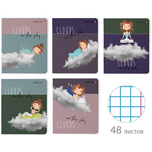 """Комплект тетрадей Альт """"Девочки в облаках"""", клетка, 48 листов от Альт"""