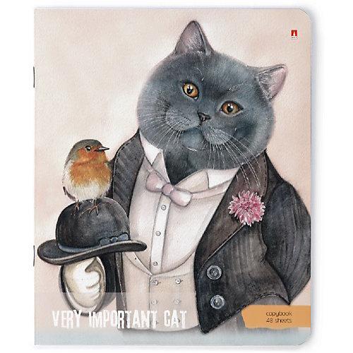 """Комплект тетрадей Альт """"Особо важные коты"""", клетка, 48 листов от Альт"""