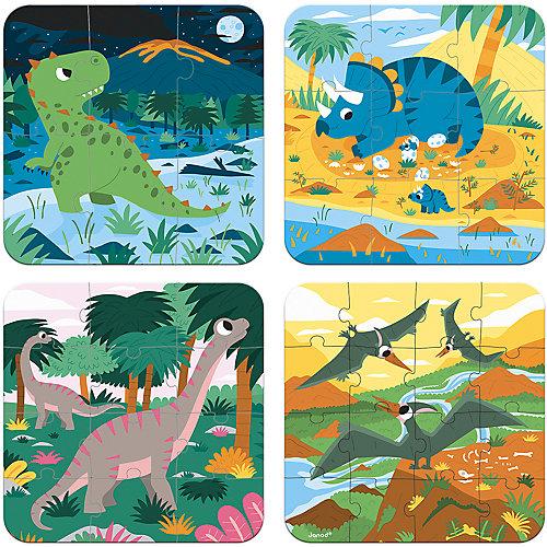 Набор пазлов Janod Динозавры, 4 шт от Janod