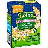 Жидкая каша Heinz многозерновая Липа с ромашкой, с 6 мес, 12 шт по 200 г