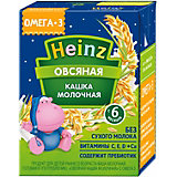 Жидкая каша Heinz молочная овсяная, с 6 мес, 12 шт по 200 г