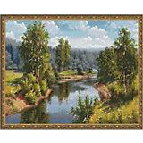 """Алмазная мозаика  Molly """"Прищепа. Проточная река"""", 40х50 см"""