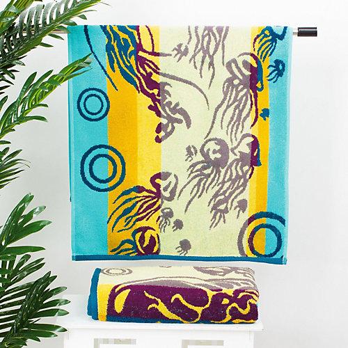 Полотенце Этель Песчаные медузы, 50х90 см - разноцветный