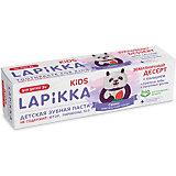 Зубная паста Lapikka Kids Земляничный десерт с кальцием, 45 г