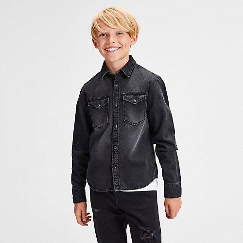 Джинсовая рубашка Jack & Jones Junior - черный от JACK & JONES Junior