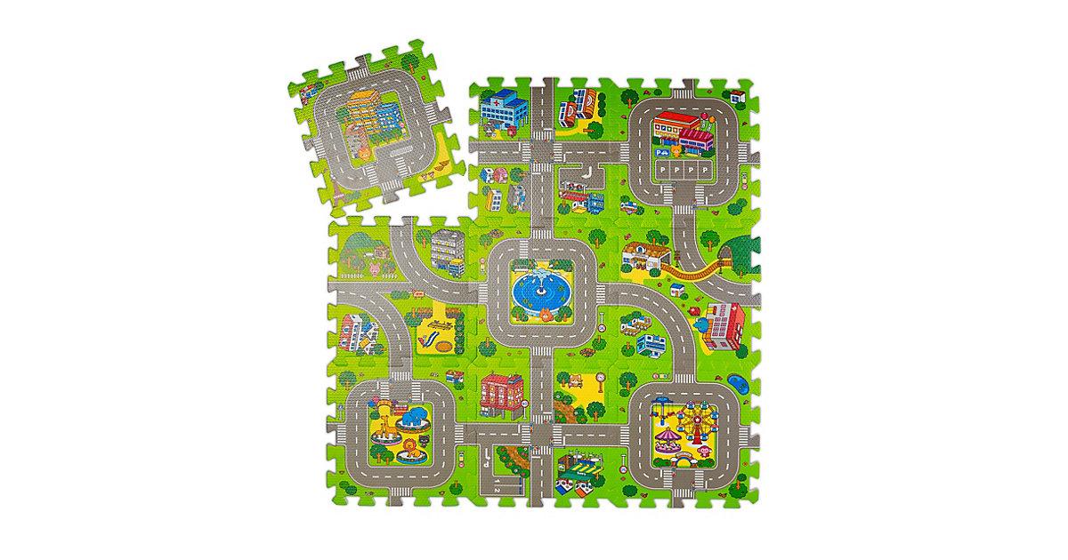 Puzzlematte Straße mit Tieren mehrfarbig