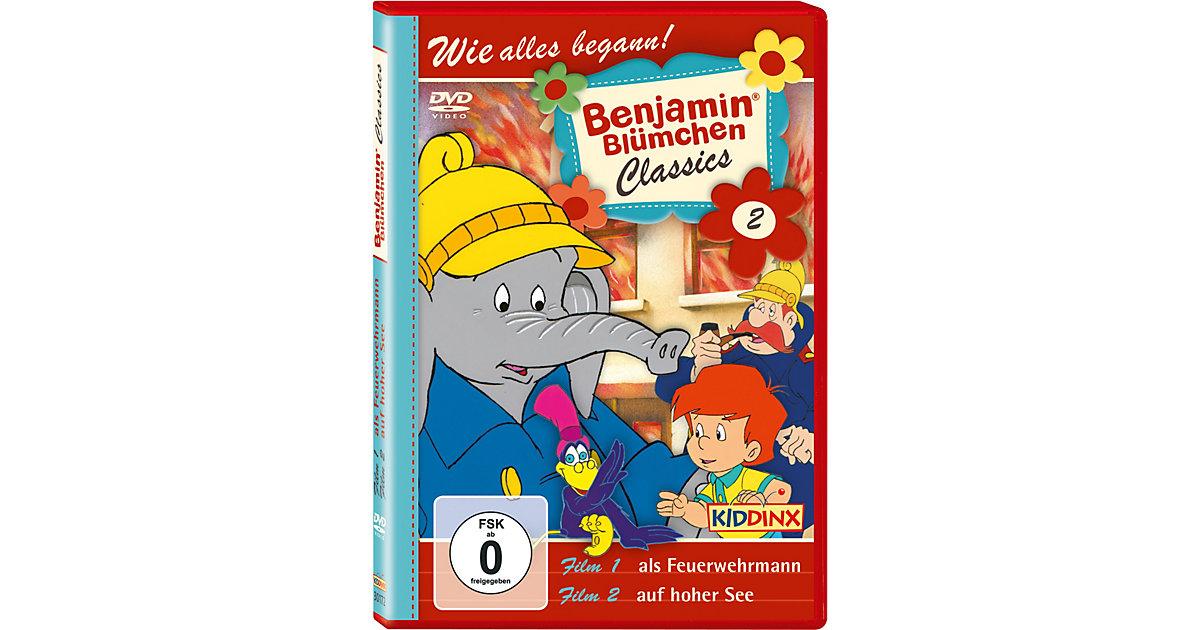 DVD Benjamin Blümchen Classic 02  (als Feuerwehrmann/ auf hoher See) Hörbuch