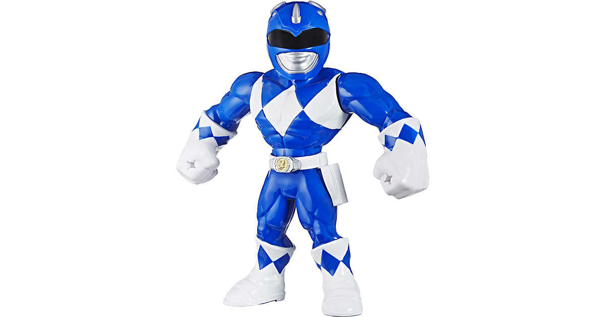 Playskool Heroes Mega Mighties Power Rangers - Blauer Ranger Figur, 25 cm weiß/beige