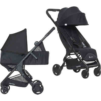 Buggy Metro Compact City Stroller + Metro Newborn Kit - Black