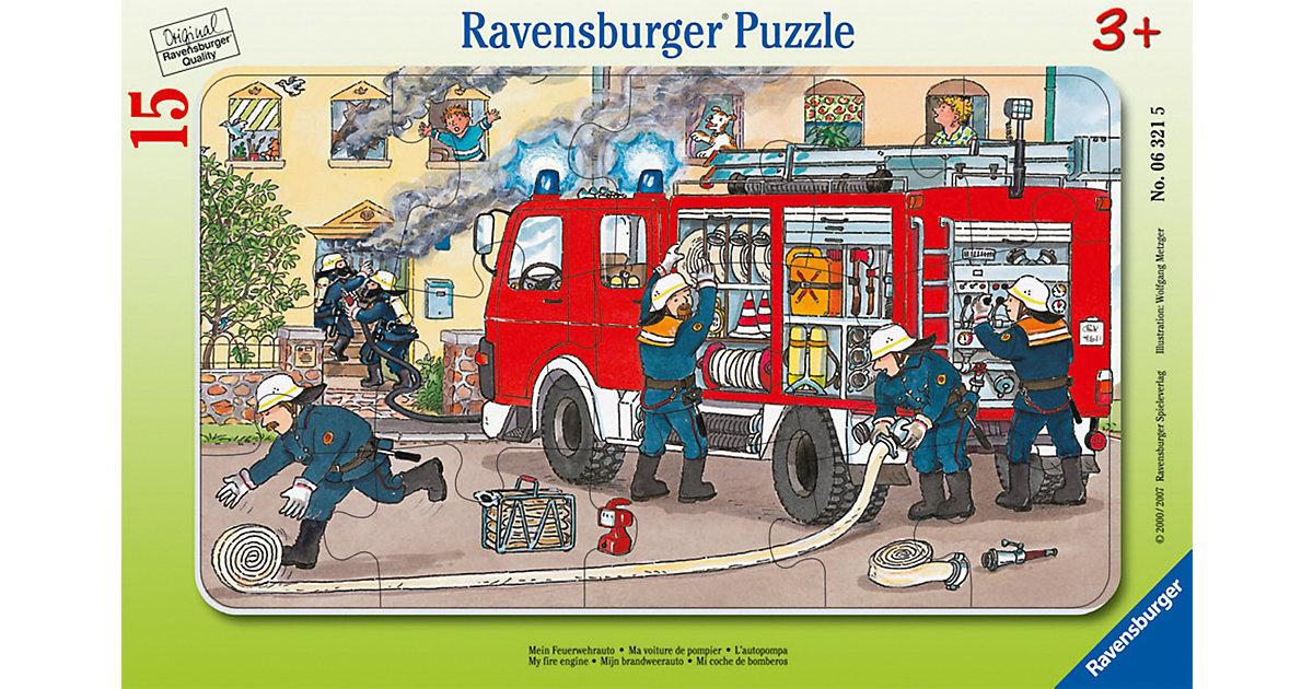 Rahmen-Puzzle, 15 Teile, 25x14,5 cm, Mein Feuerwehrauto