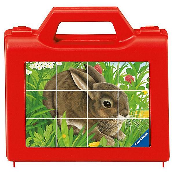 Würfelpuzzle - 12 Teile - Tiere, Ravensburger