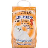 Наполнитель для кошачьих туалетов Pussy-Cat впитывающий минеральный, 4,5 л
