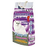 Наполнитель для кошачьих туалетов Pussy-Cat комкующийся, 4,5 л