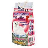 Наполнитель для кошачьих туалетов Pussy-Cat древесный, 4,5 л