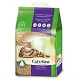Наполнитель для кошачьих туалетов Cat`s Best Smart Pellet древесный, 5 л/3 кг