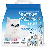 Наполнитель для кошачьих туалетов Чистые Лапки впитывающий, 7,5 л