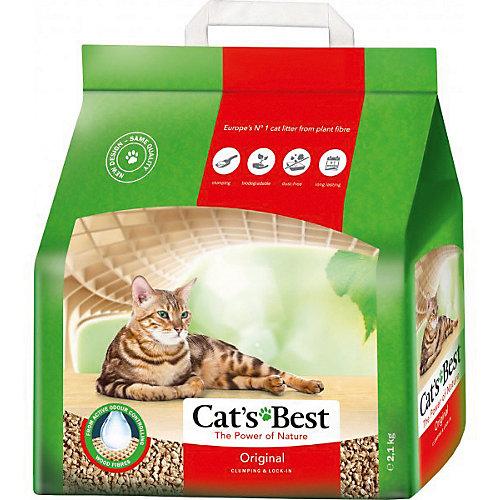 Наполнитель для кошачьих туалетов Cat`s Best Original древесный, 5 л/2,1 кг
