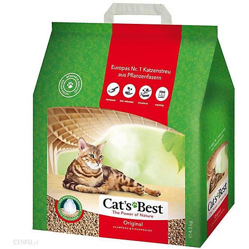 Наполнитель для кошачьих туалетов Cat`s Best Original древесный, 10 л/4,3 кг
