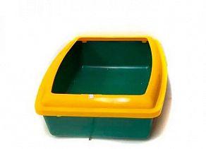Глубокий туалет для кошек Вака с бортиком, 30х42 см