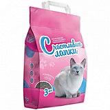 Наполнитель для кошачьих туалетов Счастливые Лапки комкующийся, 5 кг