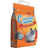 Наполнитель для кошачьих туалетов Счастливые Лапки Эконом комкующийся, 5 кг