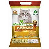 Наполнитель для кошачьих туалетов Homecat Ecoline комкующийся, 12 л