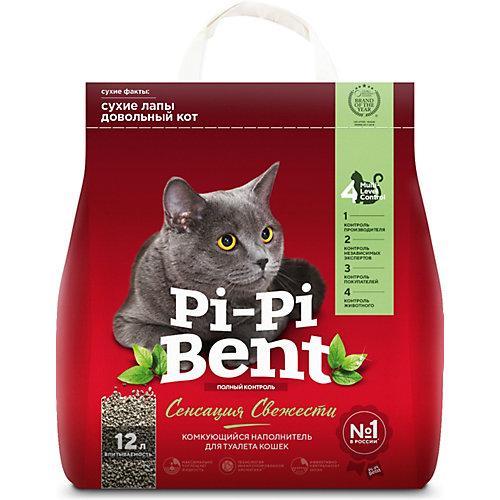Наполнитель для кошачьих туалетов Pi-Pi Bent Сенсация свежести комкующийся, 5 кг