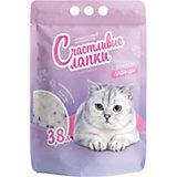 Наполнитель для кошачьих туалетов Счастливые Лапки ароматизированный, 3,8 л