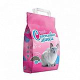 Наполнитель для кошачьих туалетов Счастливые Лапки комкующийся, 10 кг