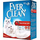Наполнитель для кошачьих туалетов Ever Clean Multiple Cat комкующийся, 10 л